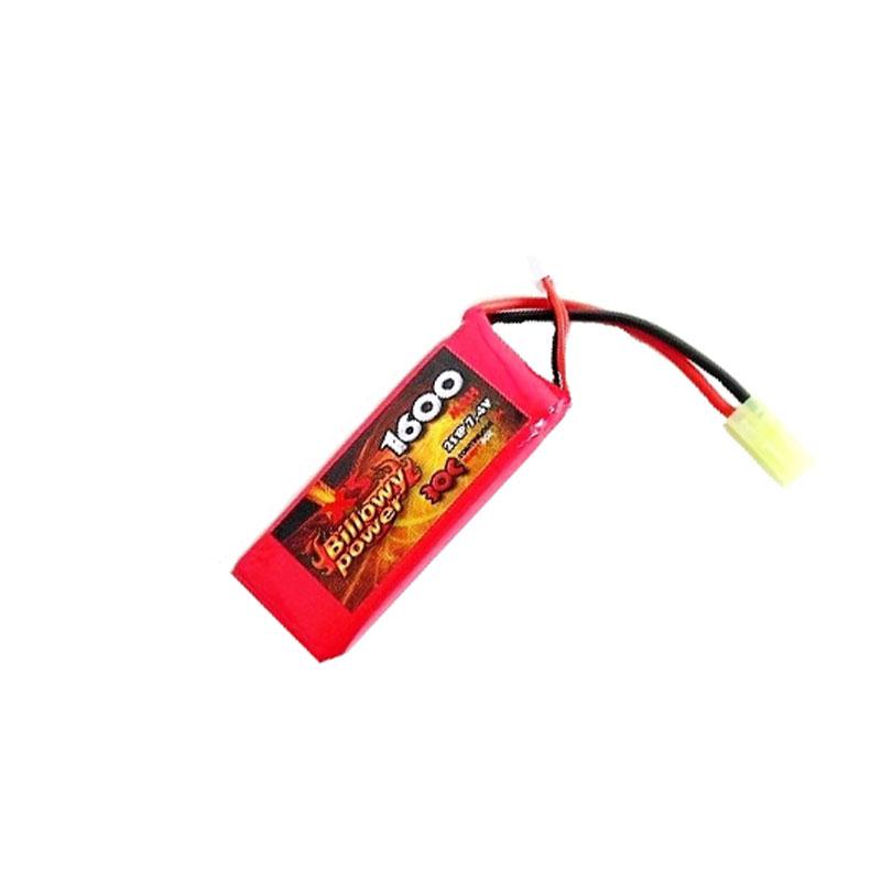 billowy power  Batteria Lipo 7,4x1600 30c Billowy Power - Softair Rastelli San Marino