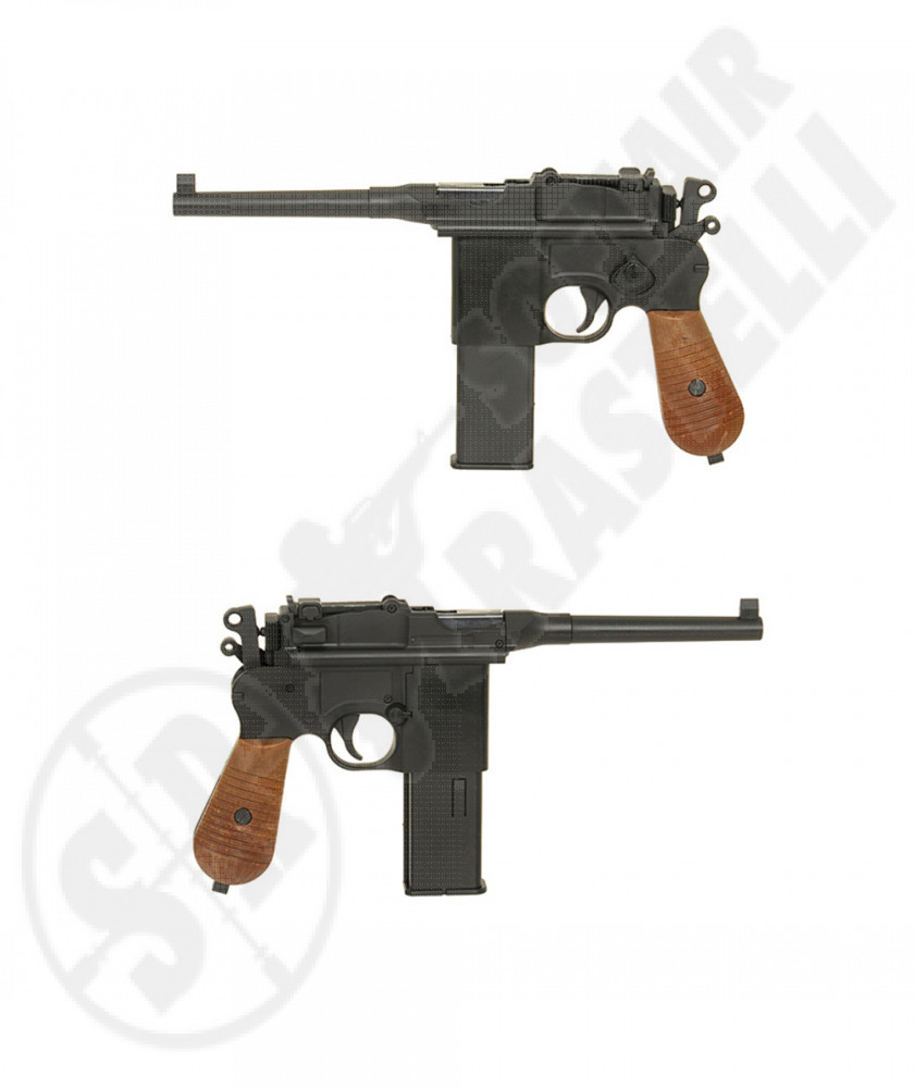 Pistola a Co2 G196 Seconda Guerra Mondiale - Nero -Well (110760)