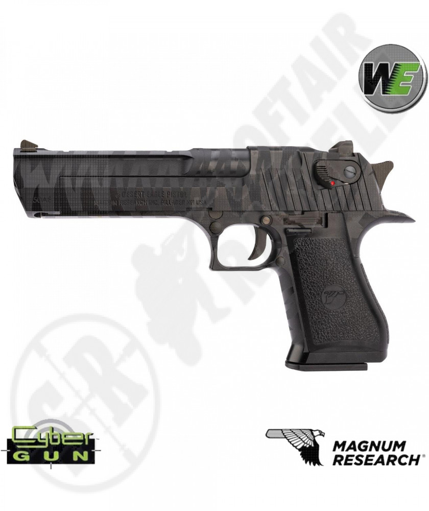 Pistola a Gas Desert Eagle - Nera Tiger Stripe - Metallo - Cybergun by WE (90510)