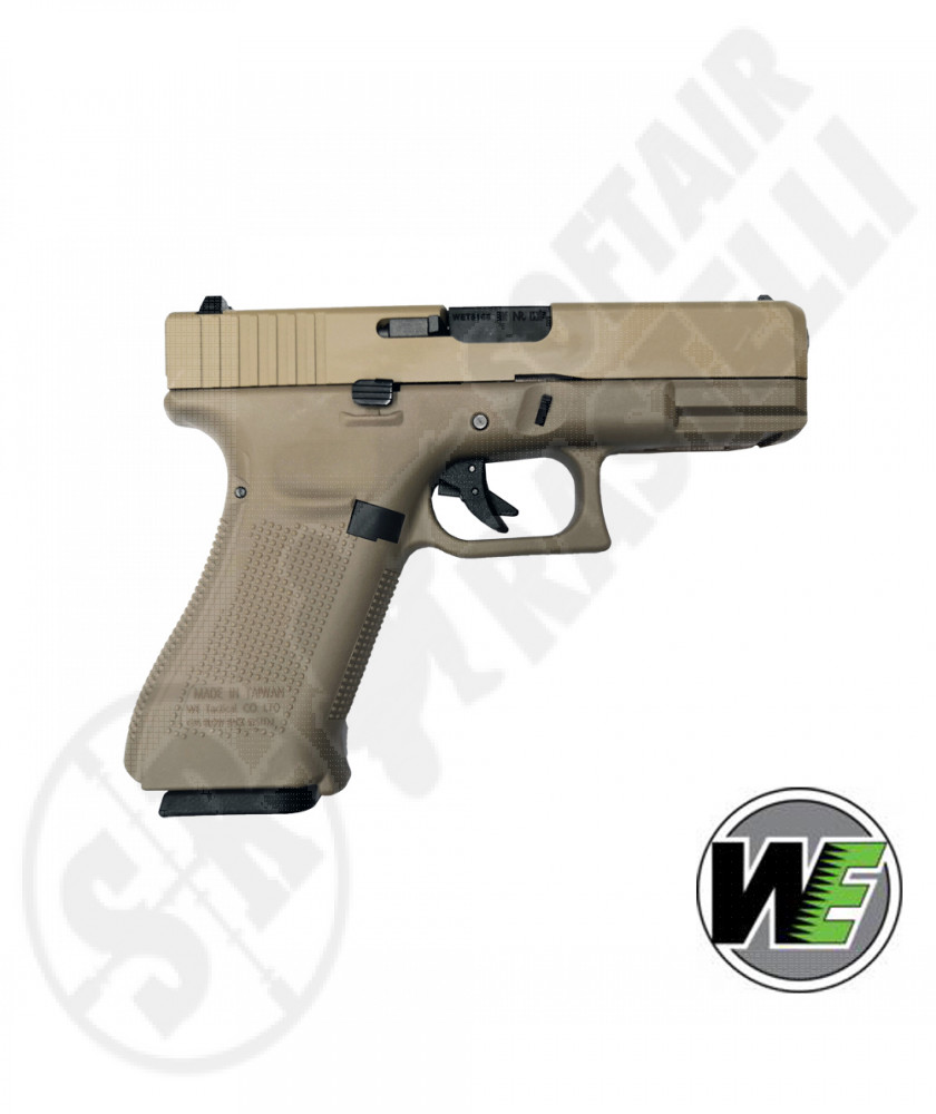 Pistola A Gas Glock G19X Gen 5 - Blowback - Tan - WE (WE-1215)