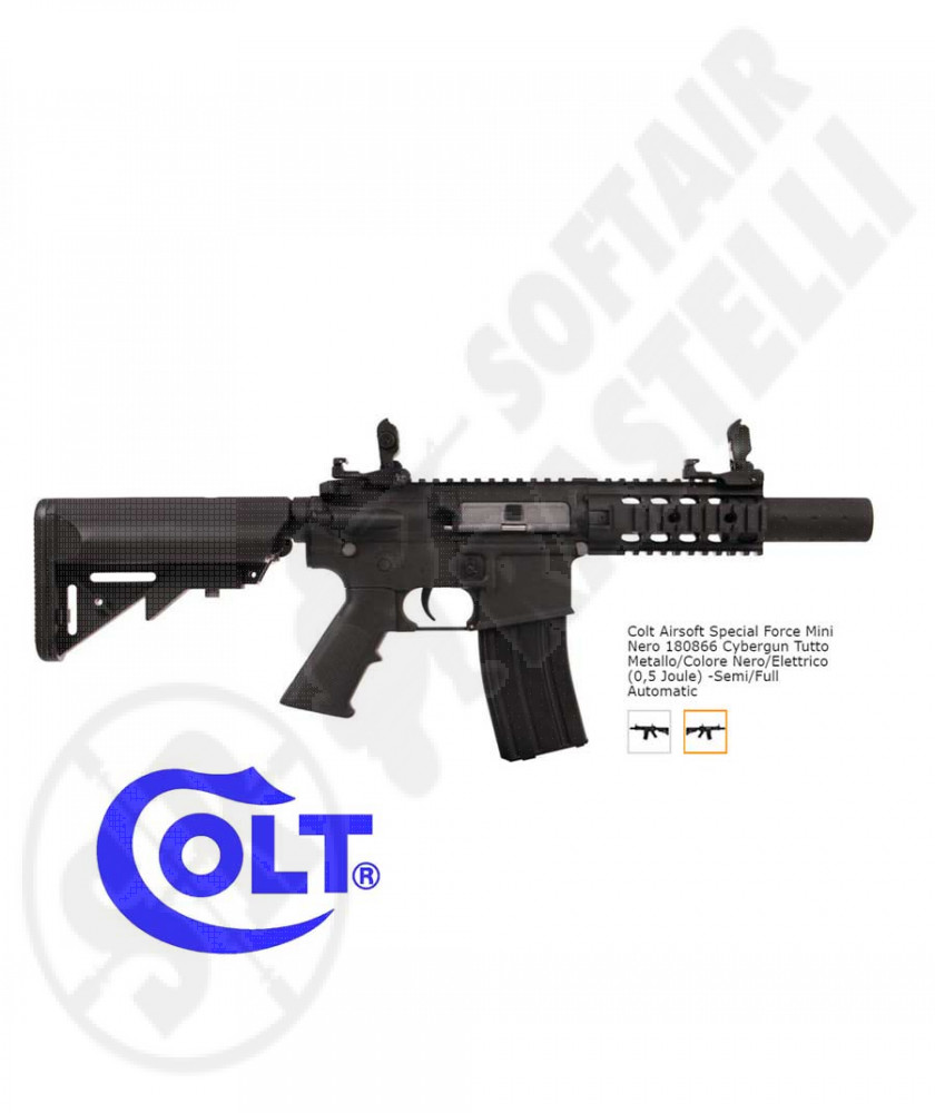 Fucile elettrico M4 Mini Special Force - Full-Metal - Nero - Cybergun Colt (180866)