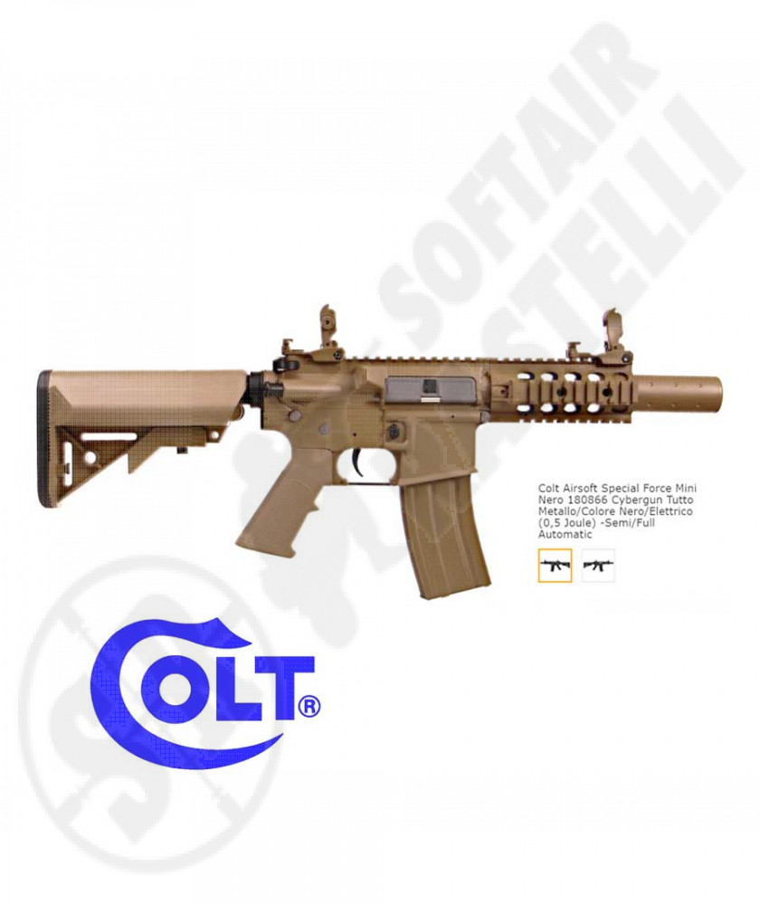 Fucile elettrico M4 Mini Special Force - Full-Metal - Tan - Cybergun Colt (180867)