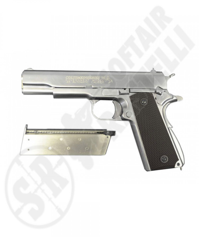 1911 governament chrome full metal (colt) a gas