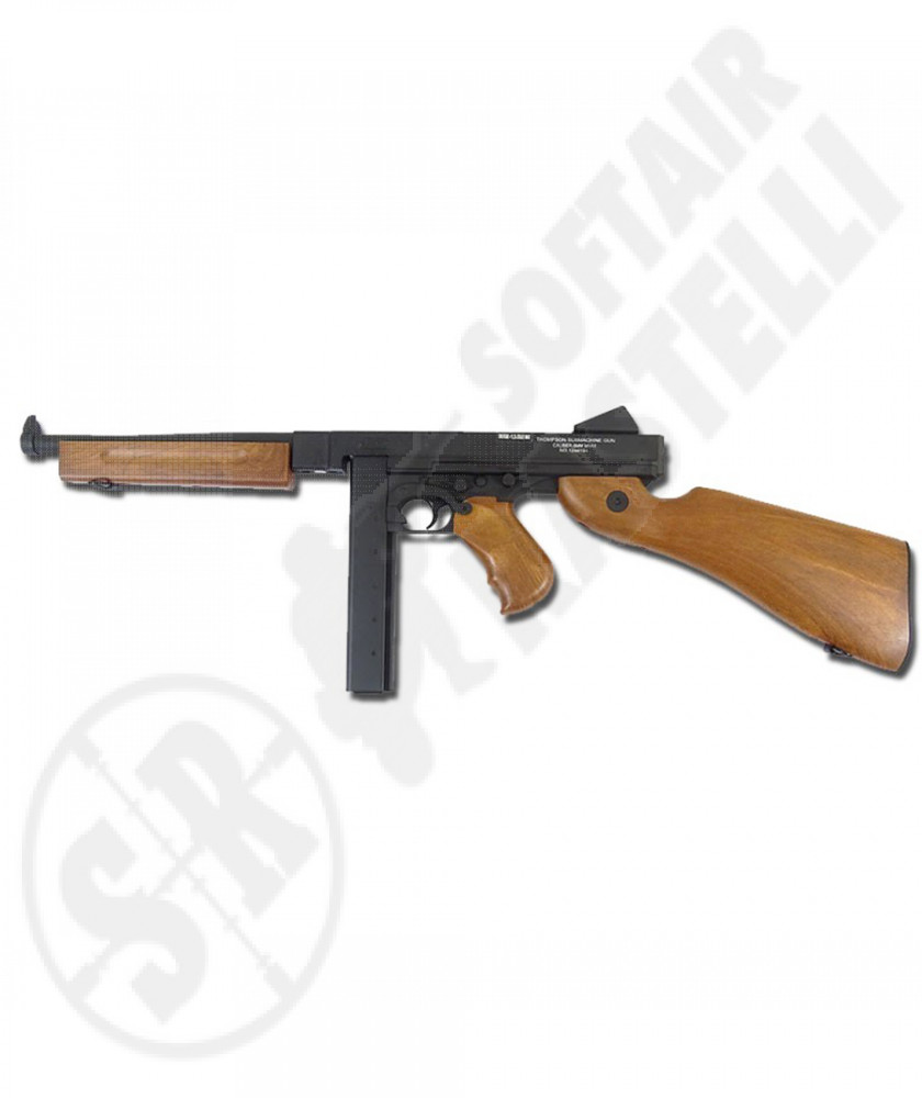 Mitragliatrice elettrica Thompson M1A1 MILITARY full metal 2 caricatori  (CYBERGUN)