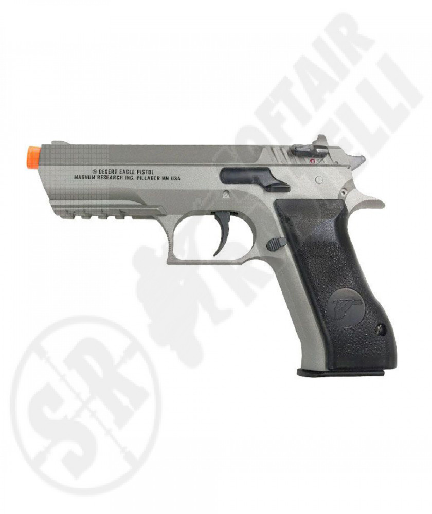 Pistola Baby Desert Eagle a CO2 Fissa - Silver - 15 BBs - Magnum Reaserch by CyberGun (950301)