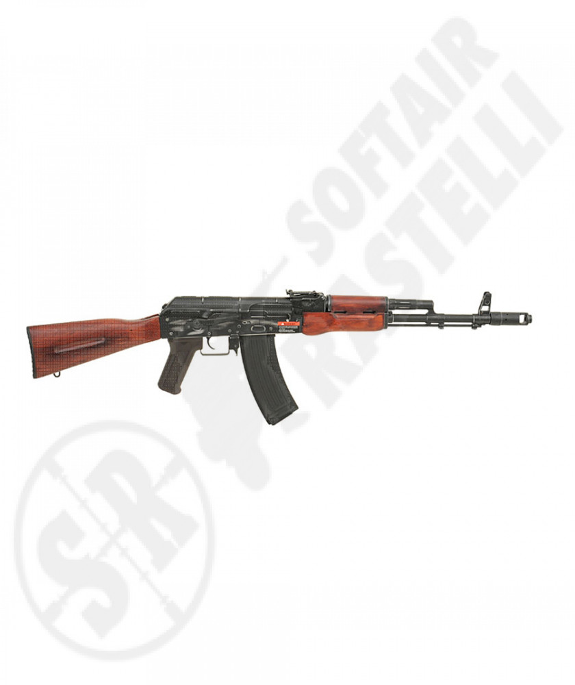 FUCILE ELETTRICO  ASK201 AK74 REAL WOOD  BLOWBACK KIMODE APS