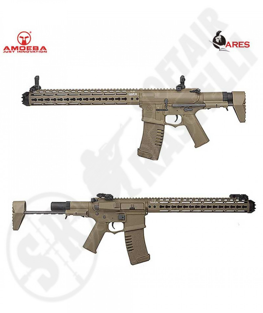 M4 AMOEBA OCTARMS 13'5 Badger Assault Rifle Tan ARES