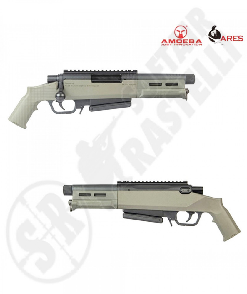 "Fucile Sniper a molla AS-03 Striker - Dark Earth ""Tan"" - Ares Amoeba (AR-AS03T)"