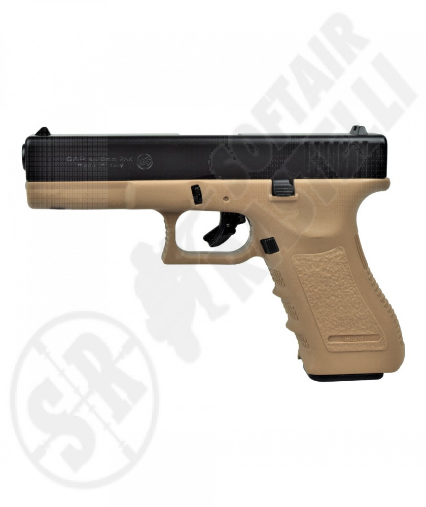 Pistola a salve Glock 17 Cal. 8 mm - Nero/Tan - Bruni (BR-1400BT)
