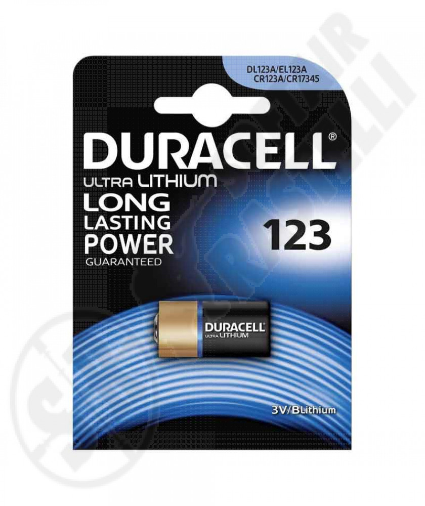 Batteria al litio duracell CR123A 3V