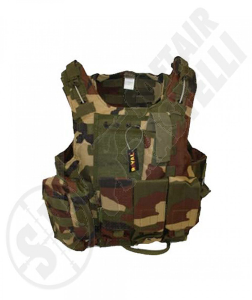Gilet tattico body armor Woodland royal plus