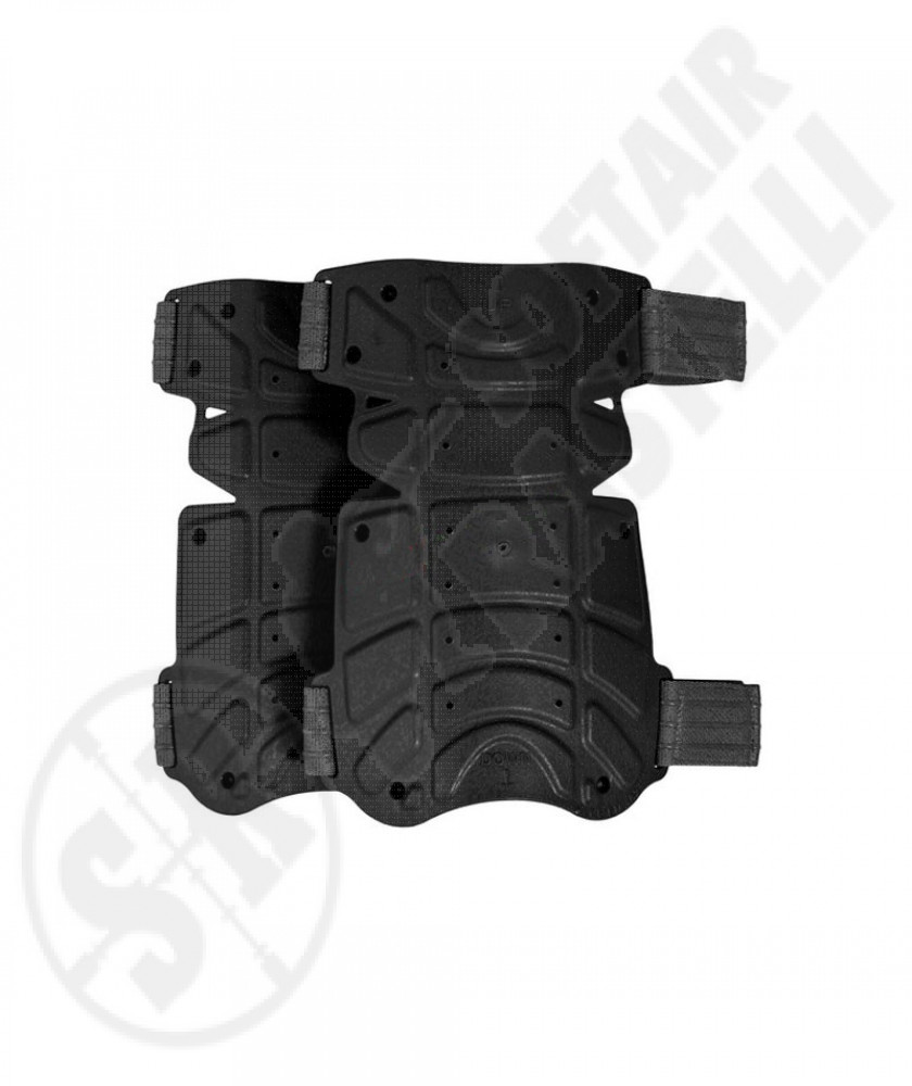 Ginocchiere stampate in polimero ultraflessibili Nero Vega Holster (OE25N)