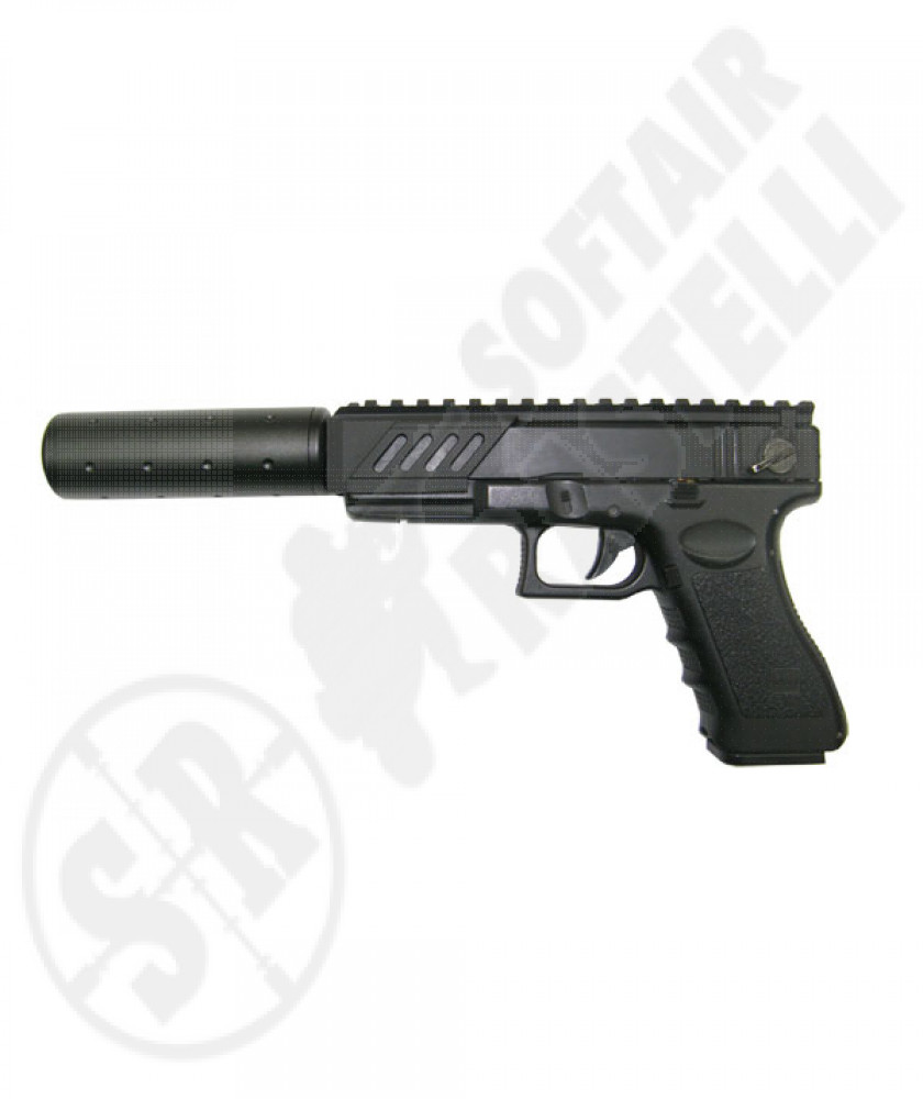 Pistola Glock elettrica gear box in metallo tactical version