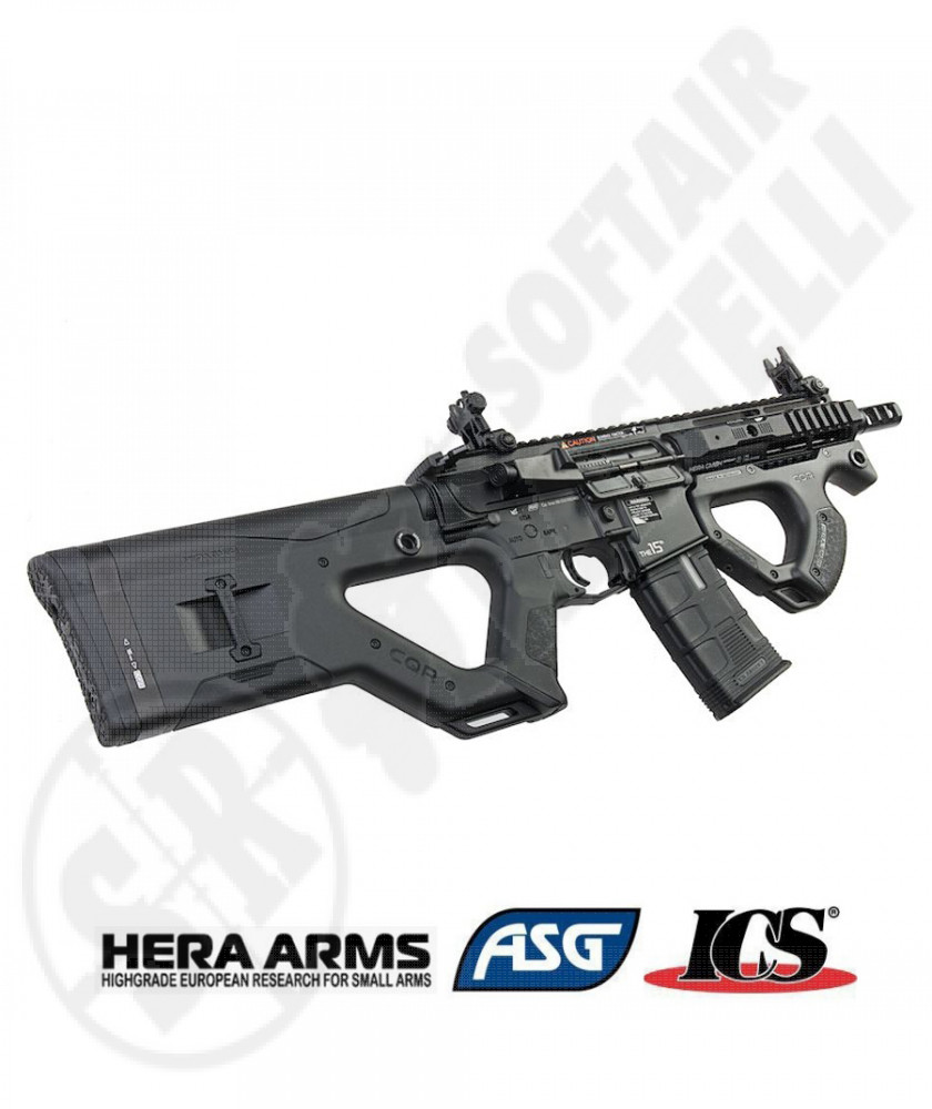 Fucile Hera Arms CQR - Nero - Full Metal - Blowback EBB - Slip Gear Box - MOSFET - ICS - ASG - Hera Arms (IC-390)