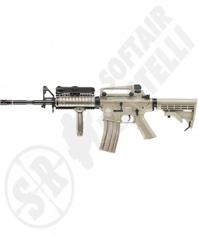 M4 RIS an.peq full metal tan (ics)