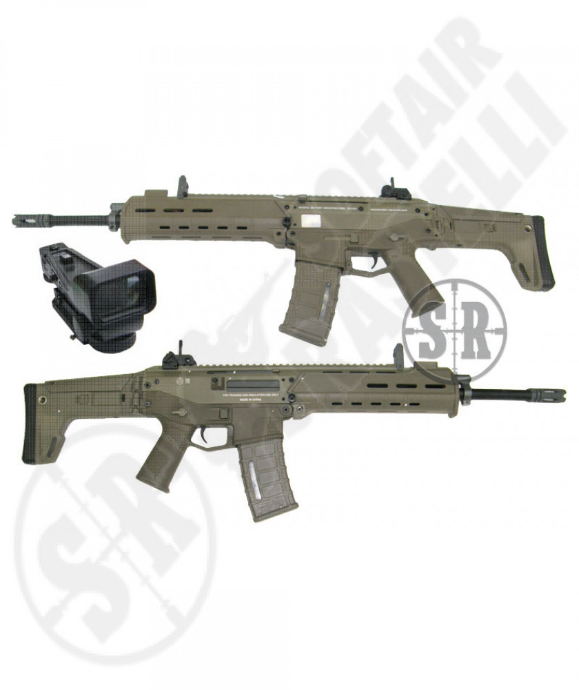 Masada ACR  tan ( magpul) full metal con red dot 21x30