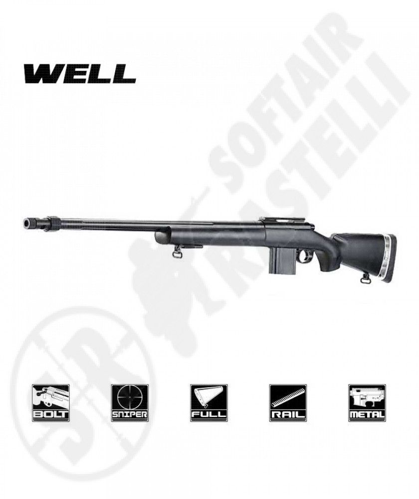 Carabina a molla MB4405B Sniper Bolt Action - Well