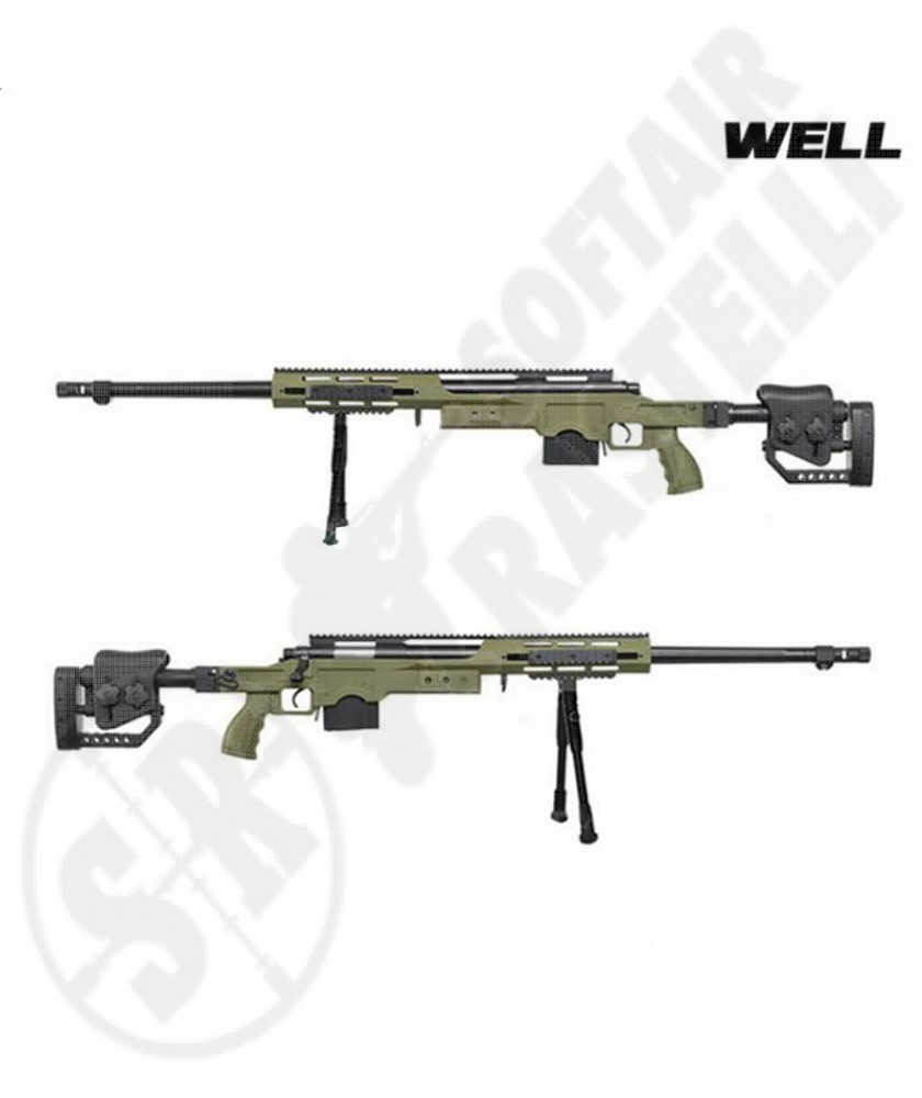 SNIPER RIFLE BOLT ACTION  GEERN MSR ASSAULT TYPE WELL CON BIPIEDE