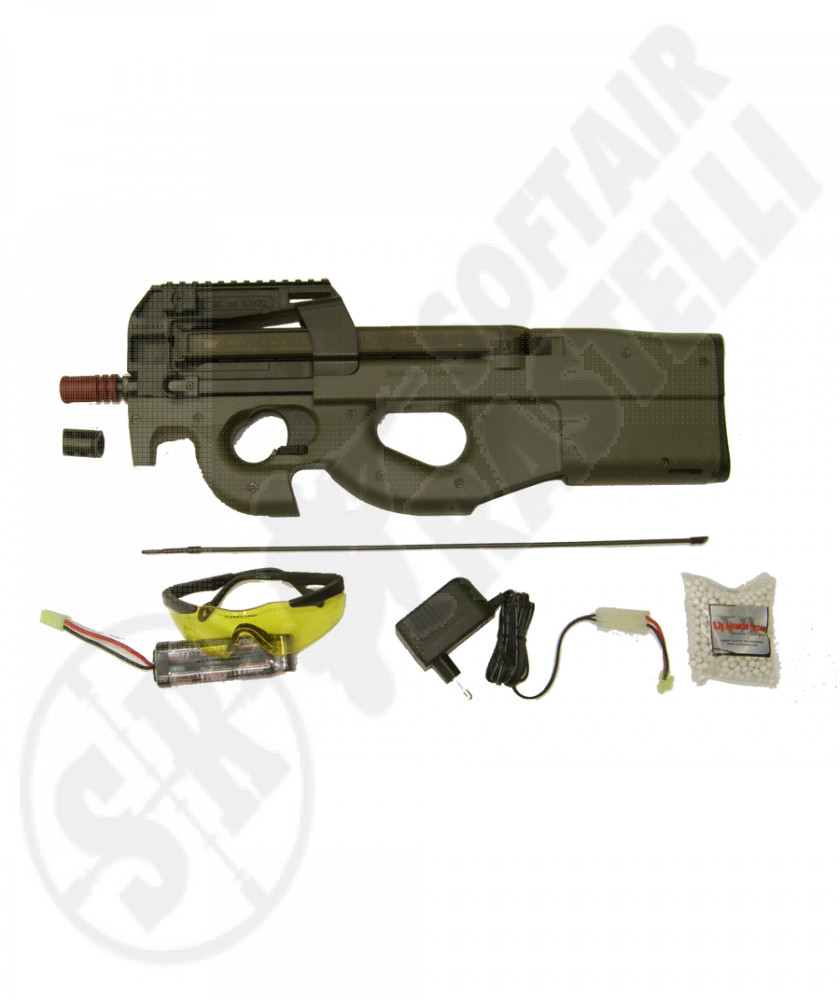Fucile P90 TR verde (classic army) sport line valuge package