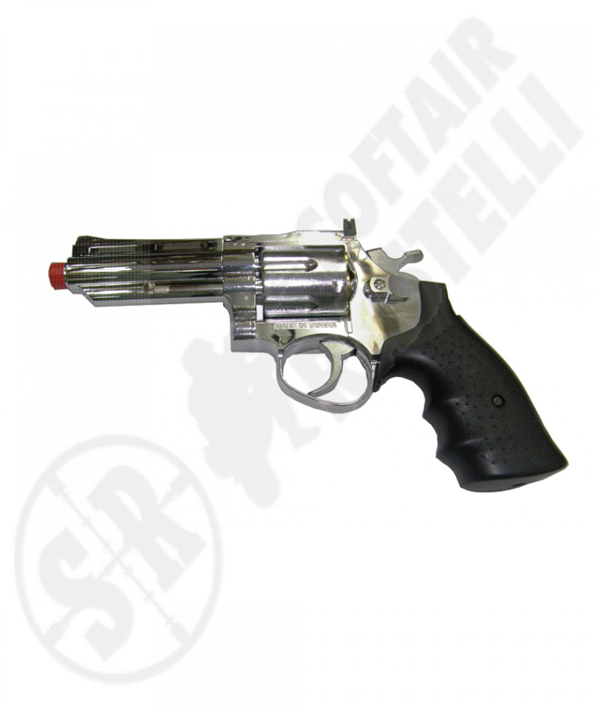 Revolver a gas heavy model silver