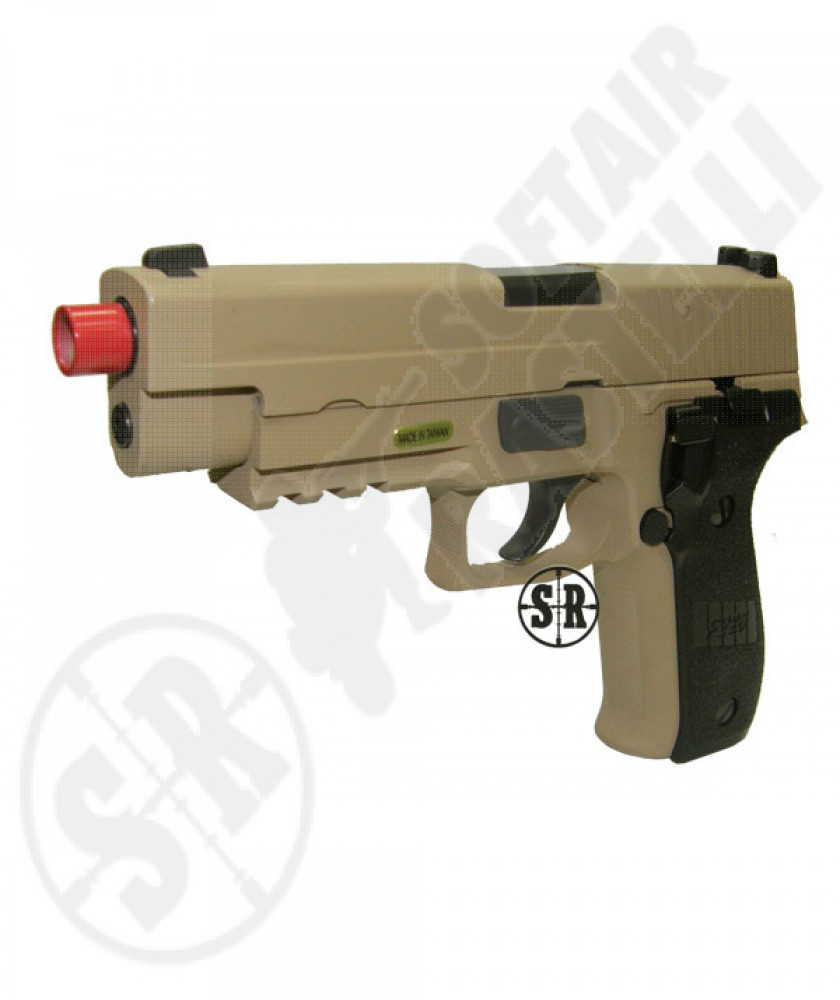 Pistola a gas scarrellante f226 we tan