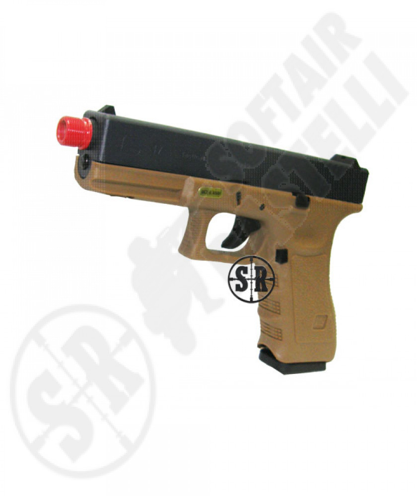 Pistola a gas scarrellante glock 17 tactical we tan/nera