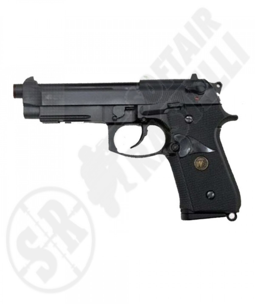 Pistola m9a1 marine black full metal a gas