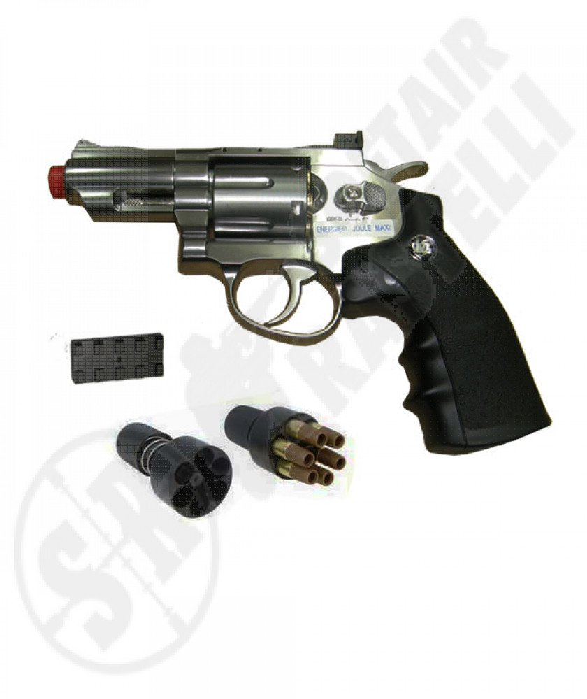"Revolver a co2 full metal silver 2,5"" 708 wg"