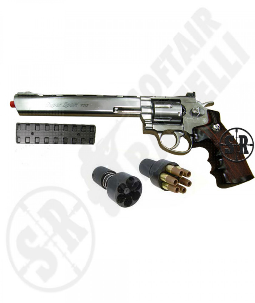 "Revolver a co2 full metal nera 2,5"" 708 wg"