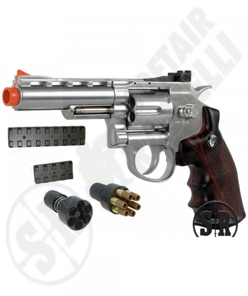 "Revolver a co2 full metal silver 4"" wg"