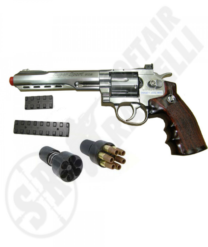 "Revolver a co2 full metal silver 6"" wg"