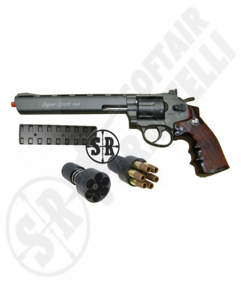"Revolver a co2 full metal nero 8"" wg"
