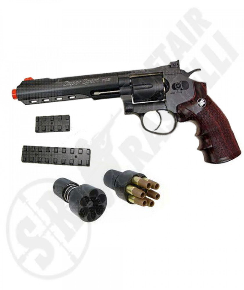 "Revolver a co2 full metal nera 6"" wg"