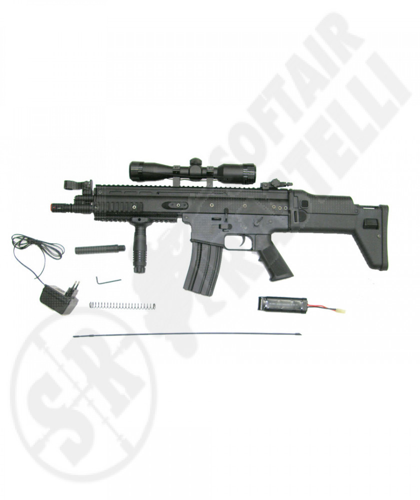 Scar L CQC  full metal nero