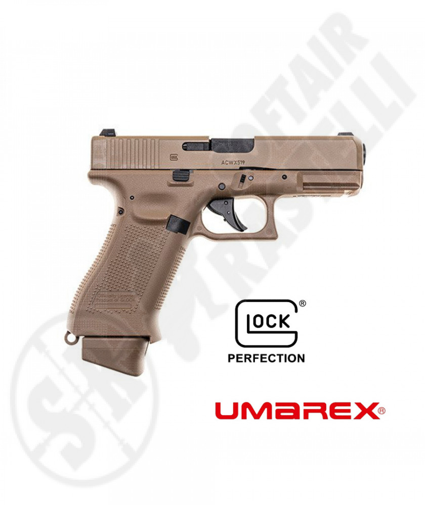 Pistola a CO2 Glock 19  3 GEN Austria Blowback TAN  UMAREX (2.6435)