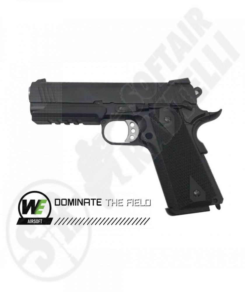 Pistola Desert Warrior 1911 Kimber Socom a Gas - Nero - Scarrellante - WE (W053B)