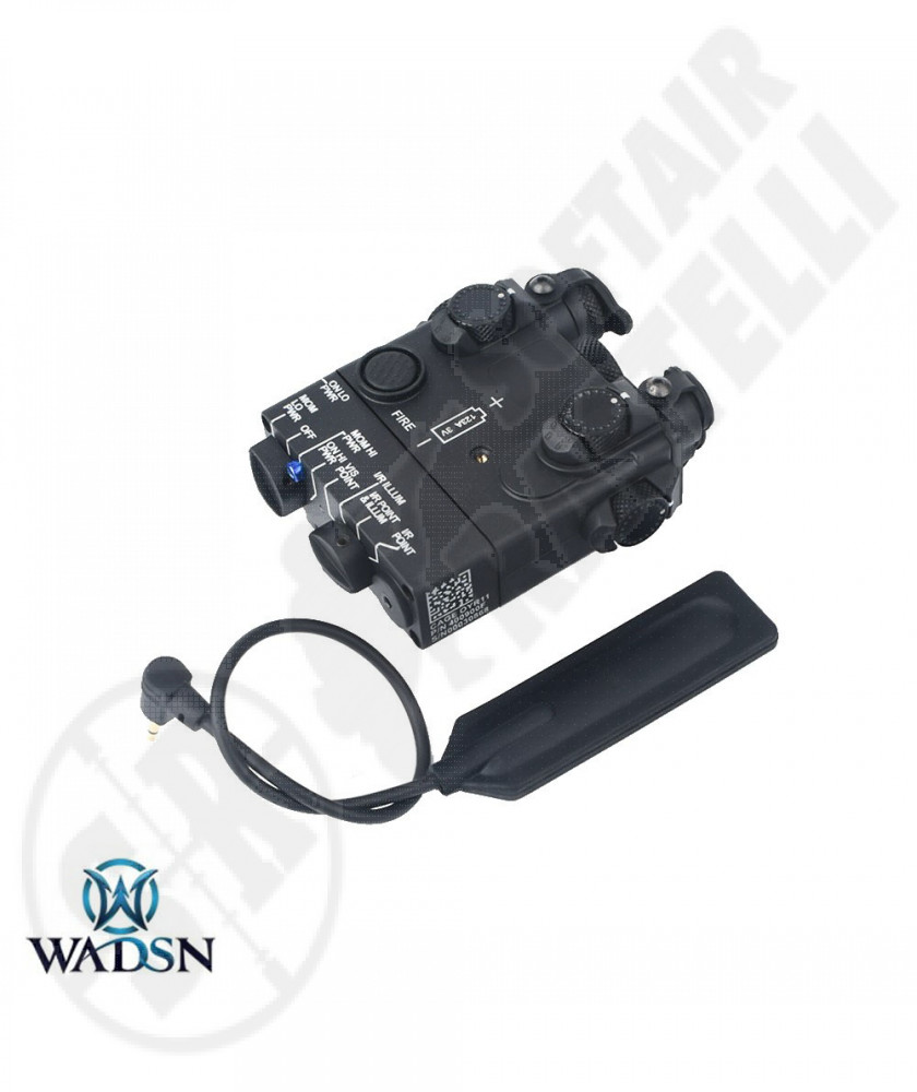 AN/PEQ Laser Rosso con Torcia Led - Nero - 128 gr - WADSN