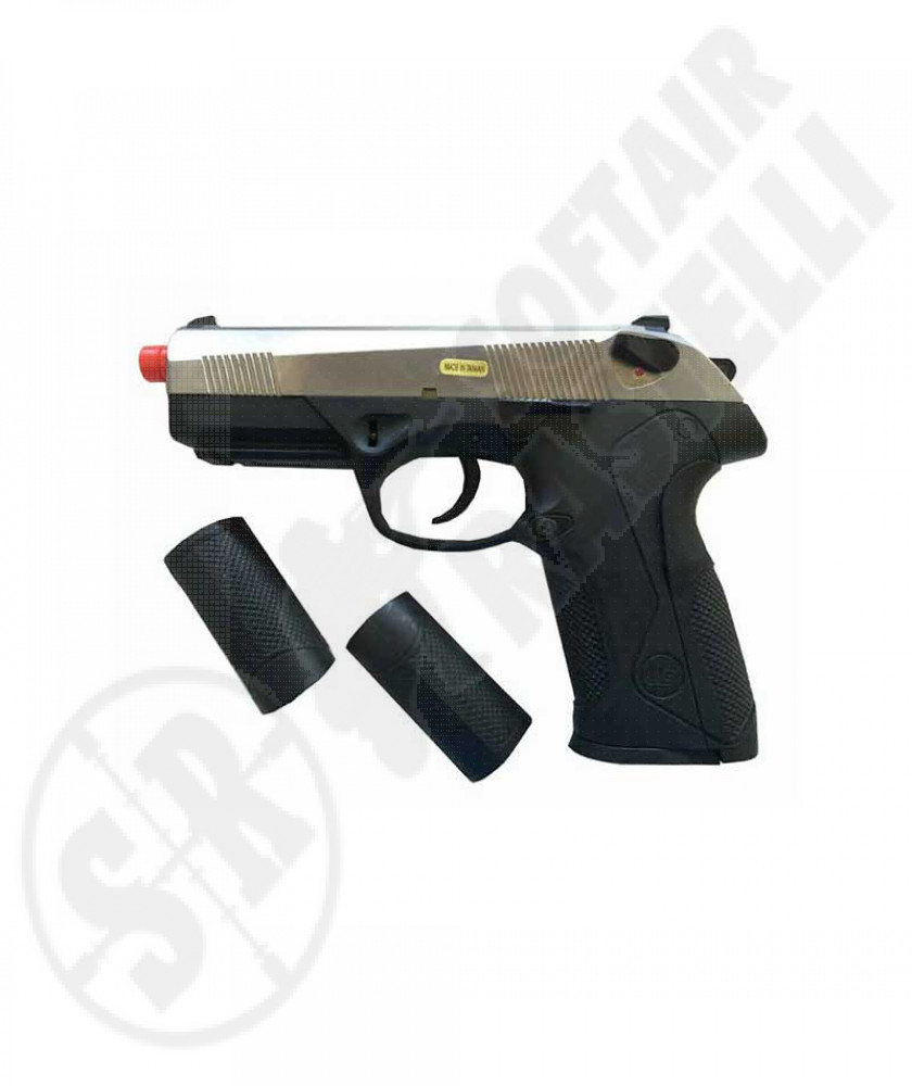 Pistola a Gas PX4 Scarrellante BLK/SILVER (WE)