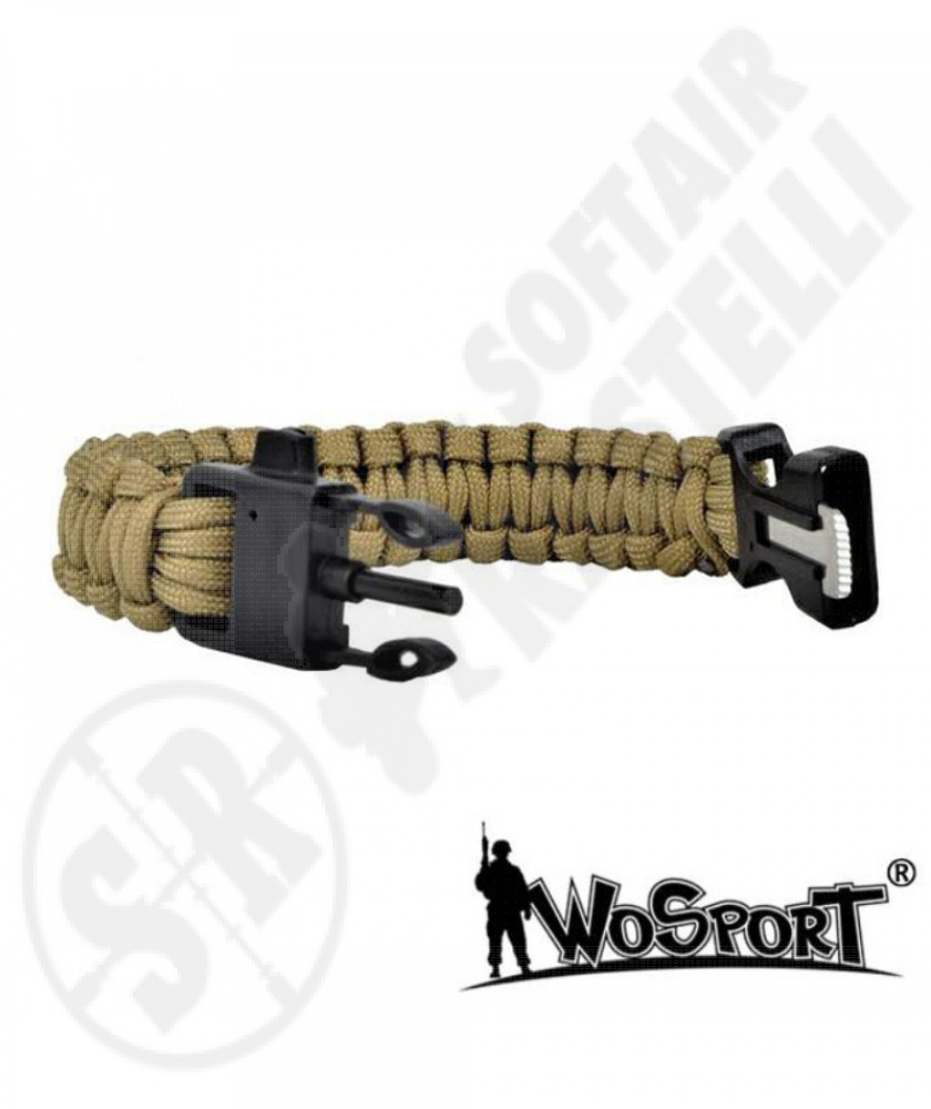 Braccialetto Survival 3 in 1 - Tan - WoSport (WO-SL42T)