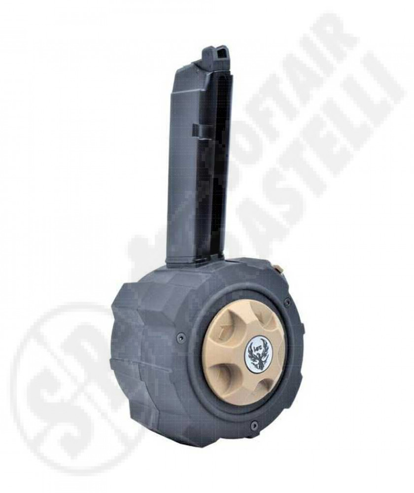 Drum Magazine a tamburo per Glock G17 e G18 Green Gas